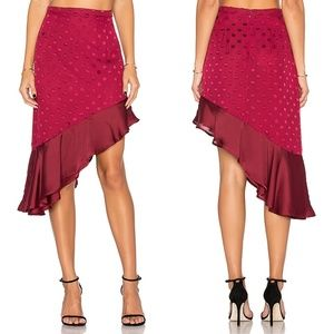 Lovers + Friends Rhapsody Asymmetrical Mini Skirt